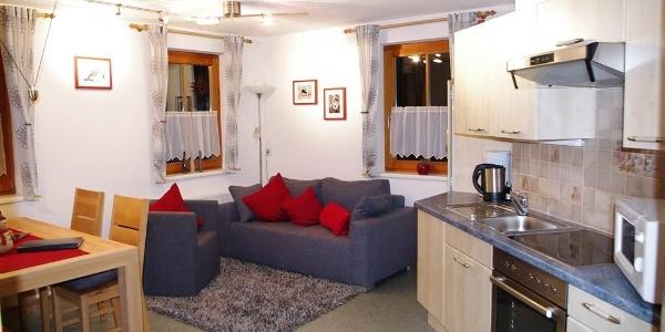 Wohnküche Ferienwohnung Vallülablick