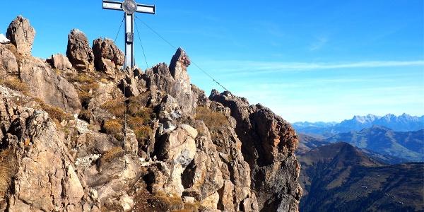 Gipfelkreuz vom Großer Rettenstein 2366m