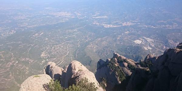 Aussicht vom 1236 m hohen Gipfel Sant Jeroni