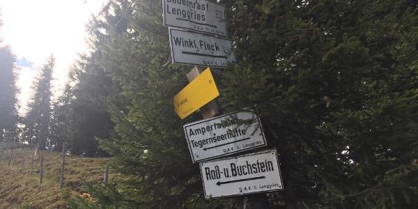 Wegweiser 2 in westliche Richtung Mariaeck