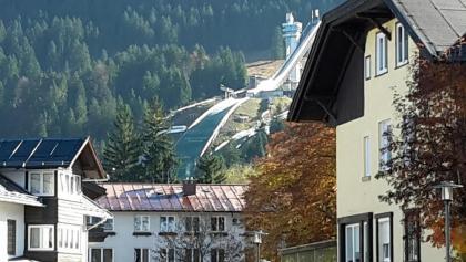 Oberstdorf mit Skisprungschanzen