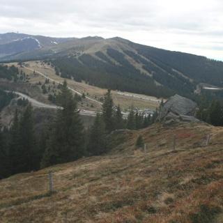 Blick Richtung Großer Speikkogel, Moschkogel, Brandhöhe und Weinebene