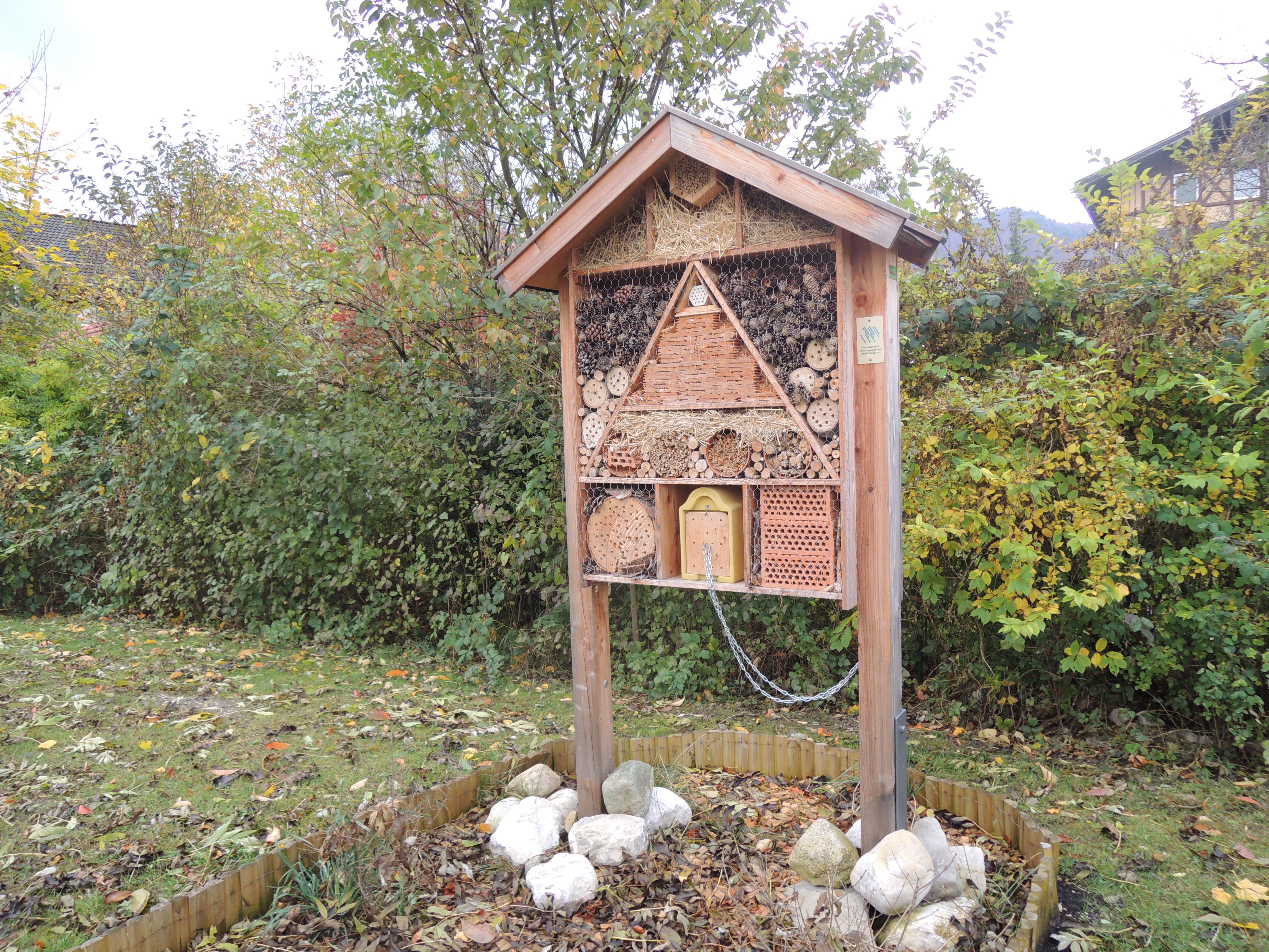 Insektenhotel auf dem Naturlehrpfad