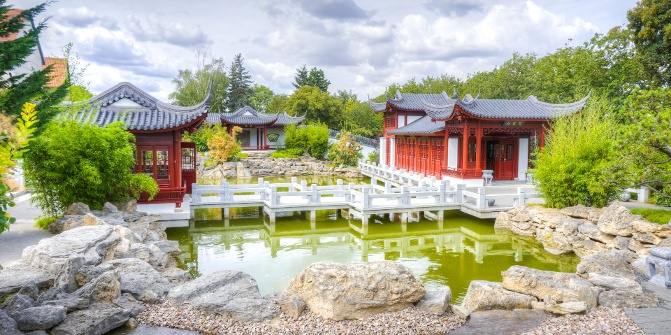 Chinesischer Garten Weißensee Garten Das Digitale Wegenetz Des