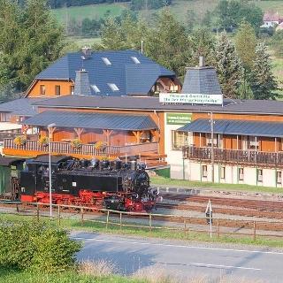 Pension mit Fichtelbergbahn