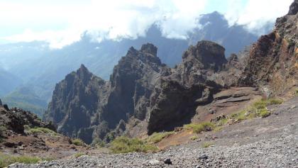 Bijna aan Pico de la Cruz