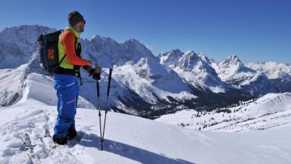 Am Brand, Blick ins Skigebiet Ehrwalder Alm