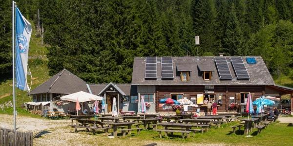 Südterrase der Eisenkappler-Hütte, ÖTK Österreichischer Touristenklub