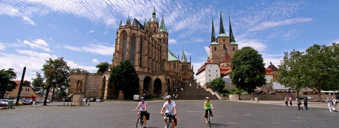 Der Domplatz in Erfurt.