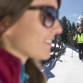 Snowshoeing in Tires al Catinaccio