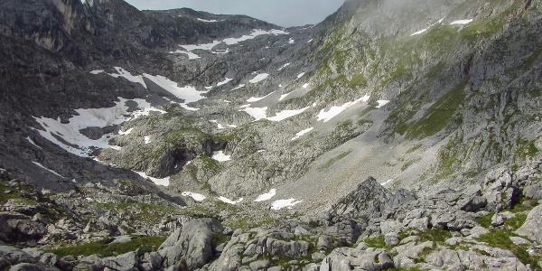Aufstiegsweg vom Gamskarkogel Richtung Hochkönig
