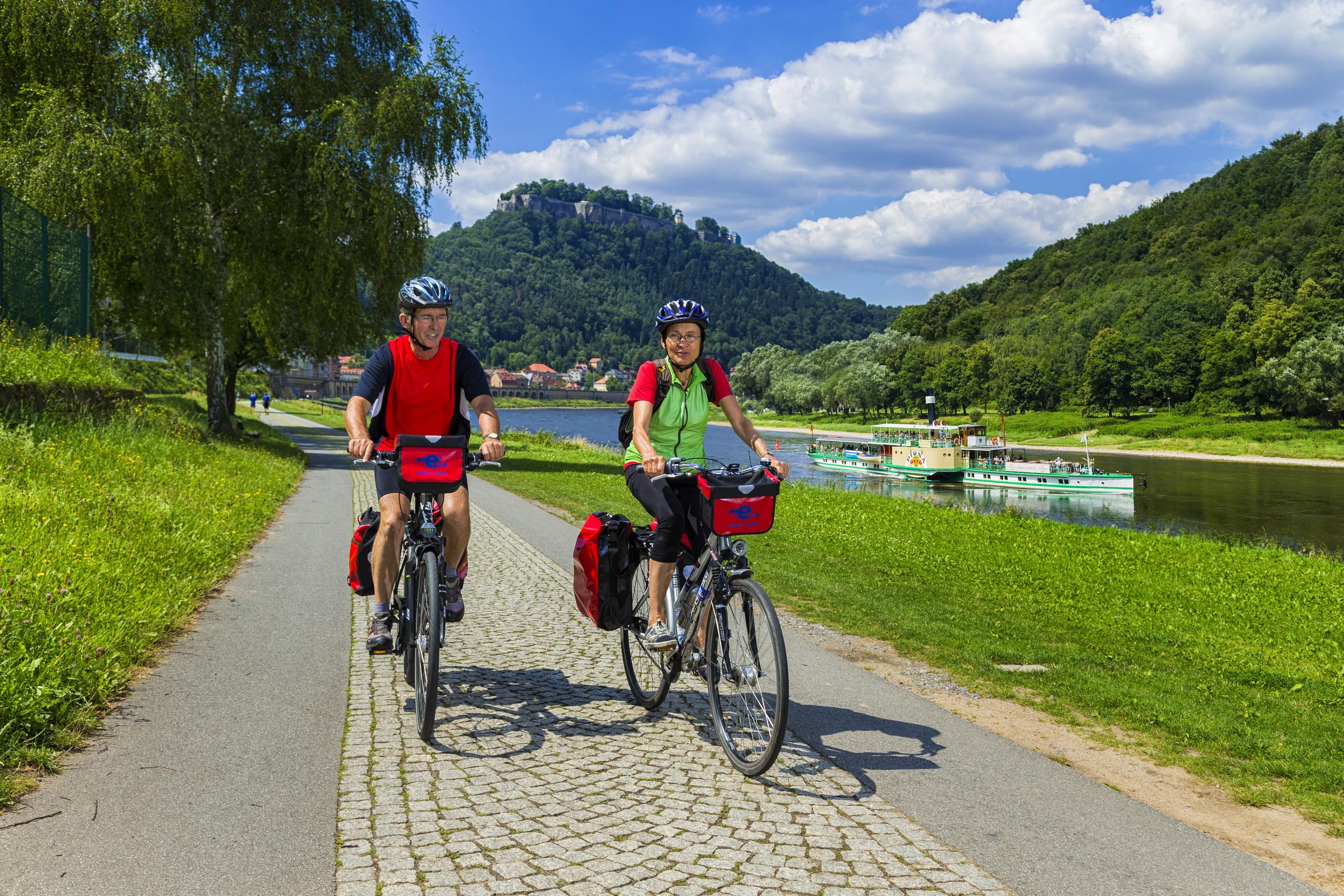 Elberadweg in Königstein
