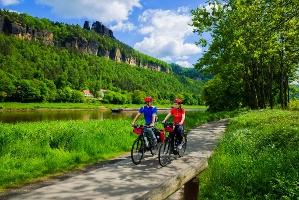 Foto Elberadweg in der Sächsischen Schweiz