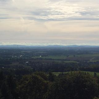 Blick vom Lessingturm in Richtung Zittauer Gebirge