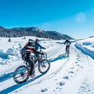 Con la Fat Bike sulla neve