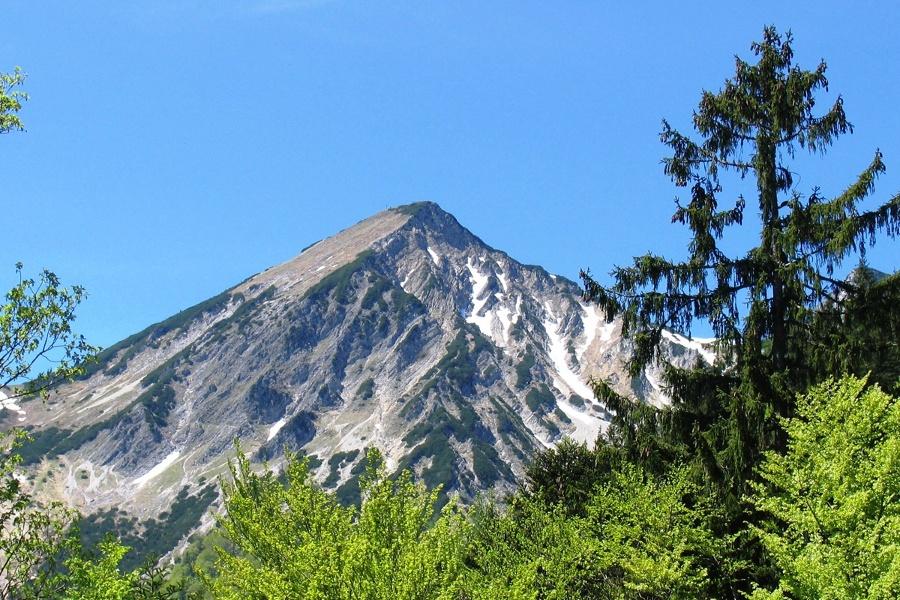 Geigelstein Gipfel vom Bergsteigerdorf Schleching aus