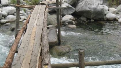 Brücke über den Fluss Las Animas
