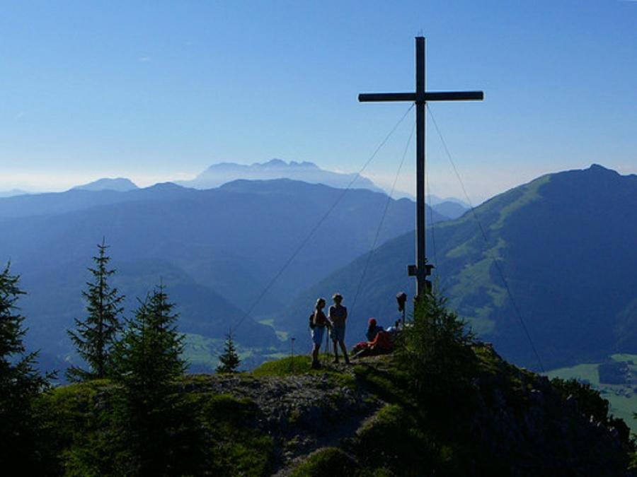 Rudersburg Gipfelkreuz-©Quelle: Tourist-Information Schleching