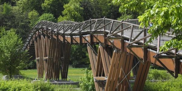 Holzbrücke Tatzlwurm in Essing im Altmühltal