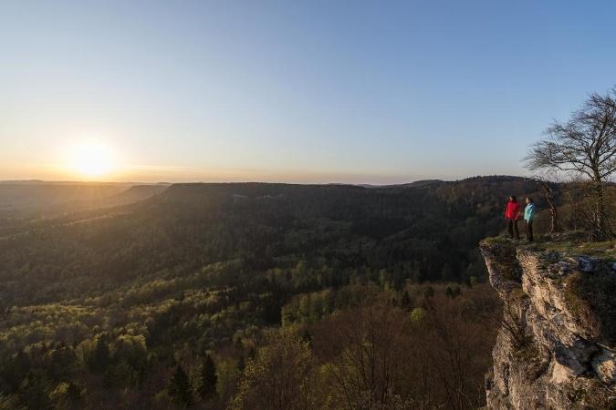 Sonnenaufgang am Albtrauf