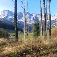 am Südrücken mit Blick zur Untersberg Südwand