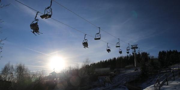 Wintertag am Adlerfelsen Eibenstock