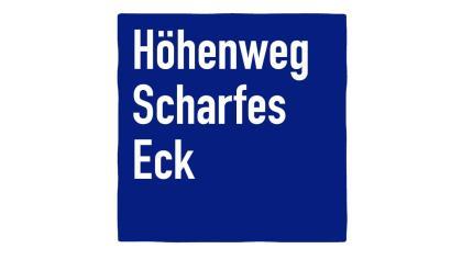 Piktogramm Höhenweg Scharfes Eck