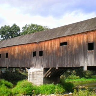 Historische Holzbrücke - Wünschendorf