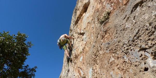 der Felsen in Zobolo ist den ganzen Tag in der Sonne