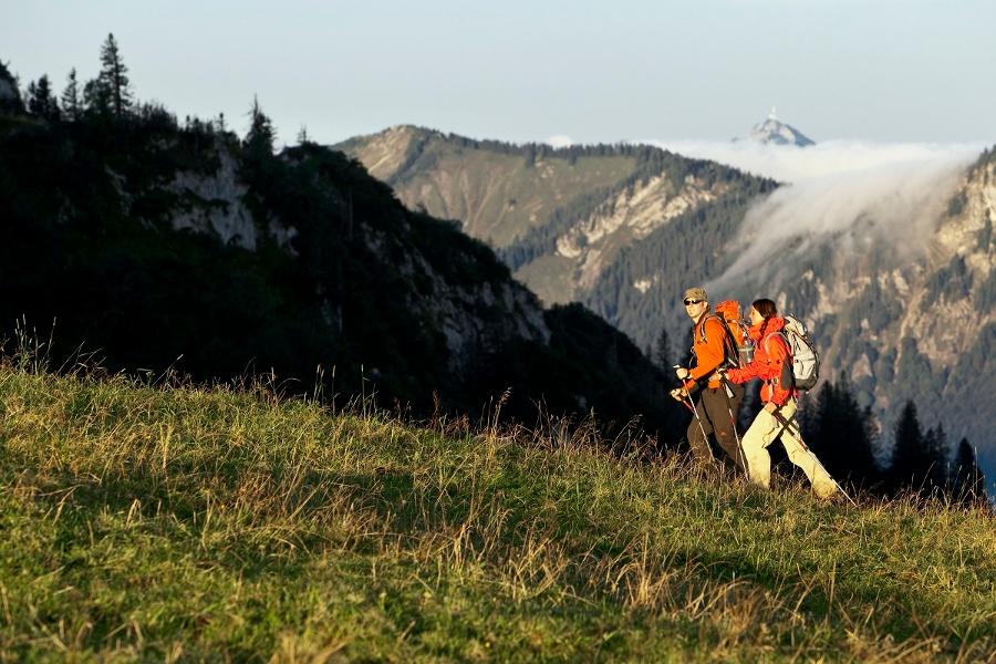 Wandern von Oberaudorf aus - Auf dem Grenzenlos Wanderweg
