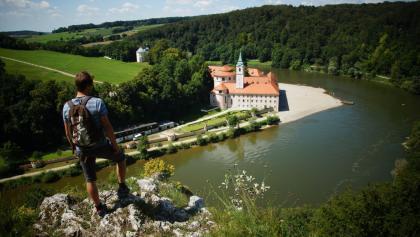 Blick auf das Kloster Weltenburg