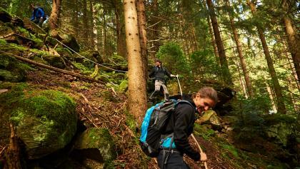 Albtal.Abenteuer.Track - Kletterpassage mit Spezialtau