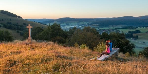 Sonnenaufgang am Scheibenfelsen, Bernau