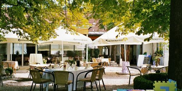 Gastgarten des Kastanienhofes