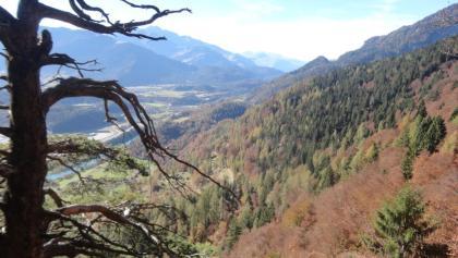 Blick vom höchsten Punkt der Tour ins Rheintal