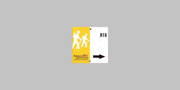 Markierungszeichen Wanderwegenetz Römische Weinstraße