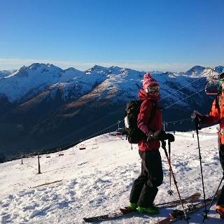 Blick von der Jatzhütte in Richtung Davos
