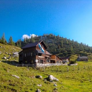 Morgenstimmung Hochmölbing-Hütte des ÖTK