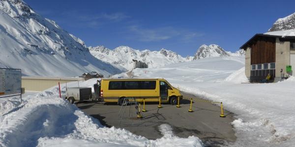 Haltestelle Tunnelbus beim Silvrettasee