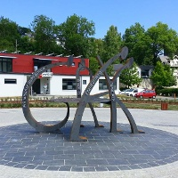 Drehkreuz des Wanderns in Blankenstein - Rennsteig, Frankenweg, Fränkischer Gebirgsweg und Kammweg Erzgebirge-Vogtland