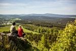 Vom Bärenstein Blick auf die Gipfel des Erzgebirges