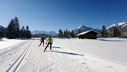 Langlaufen im ZugspitzLand - Große Runde im Loisachtal