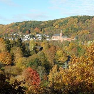 Blick auf Heimbach
