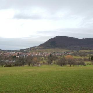 Blick auf Engelberg und Beurener Fels