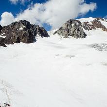 Weg über den Gletscher zur Weißkugel