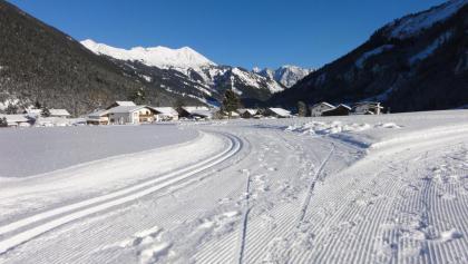 Oberfeldloipe Blick Richtung Zugspitze