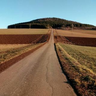 Die Route führt über den Osterberg