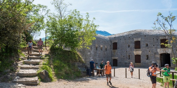 Fortifications on Monte Brione