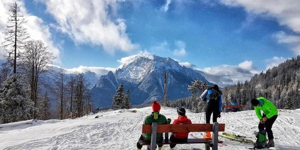 Skitourengeher auf dem Götschenkopf