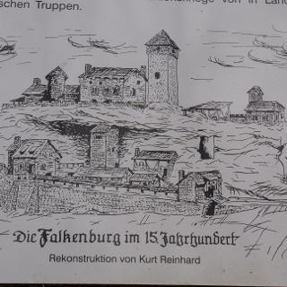 So sah die Burg vor der Zerstörung aus